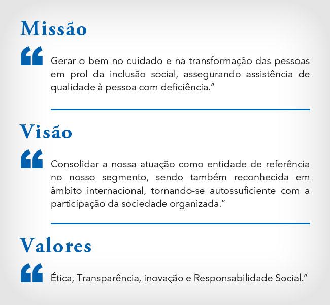 Missão, Visão e Valores Casas André Luiz