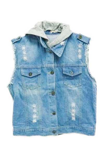 Promoção mês das crianças: Bazar Mercatudo. Colete Jeans - LHJ FASHION