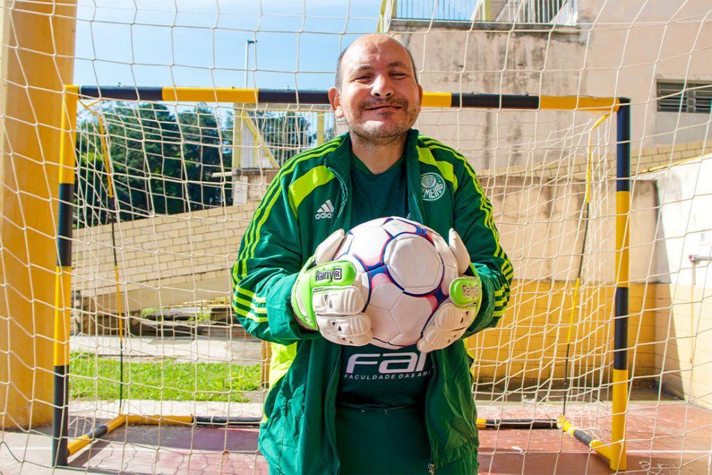 Gebaldo é fanático pelo Palmeiras e sonha em conhecer o goleiro Weverton Pereira